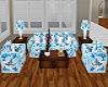 Blue Rose Sofa set