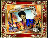 prince gold red framed