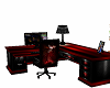 Black n red office desk