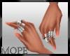 Orange Nails+Rings