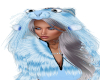 Ice Kitten Blue Hoodie