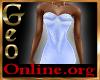 Geo Rachael Gown blue