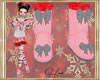 ~H~Kid Candy Cane Boots
