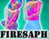 [F] neon mesh dress