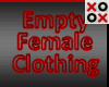 Empty Clothing Female