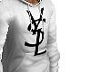 r. YSL Hoodie White . $$