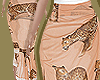 Peach Leopard Wrap Skirt