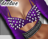 =D Metal Bra Top Purple