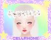 white flower crown ❤