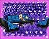 blue & black club couch