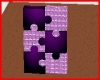 Purple Puzzle Wall
