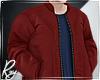 Red Bomber+Navy Shirt