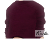 |K Crop Sweater Wine