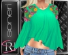 Maria green blouse