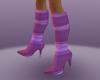 purple larex heel boots