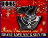 HEART LOVE NECK SILVER