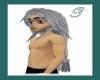 grey streak hair