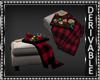Christmas Ottoman w/Tray