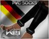 +KM+ PVC socks black