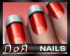 *NoA*Nails Red / White