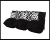 Black/White Pillow Couch