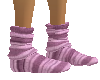 Pink stripe sock