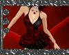 Red & Black Print Dress