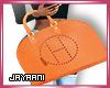 Herms Wrist Bag Orange