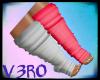 {V} Grey and Pink Socks