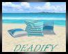 Blue Beach Pillow NoPose