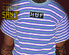 ✞ HUF BLUE STRIPES