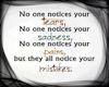 NO ONE NOTICES