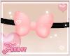 ! F. Pink Bow Choker