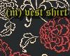 (m)black rose vest shirt