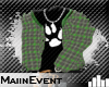 =ME= Plaid Hoody up Grn