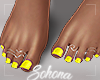 ṩ| Yellow Pedicure
