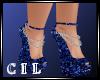 !C! BLUE GLITTER HEELS
