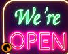 We're Open Neon