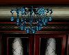 blue ball room chandelie