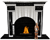 Black/white fireplace