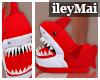 Shark Slippers| Red