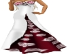 Amalthia Dress Red&White