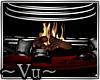 ~Vu~Immo Fireplace sofa