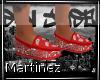 M!  Red bandana slippers