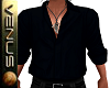 ~V~Black Open Shirt