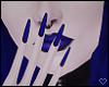 \/ Blue Nails
