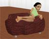 [AR]Dark Brown chair