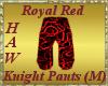 Royal Red Knight Pants