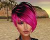 pink & black hair short