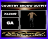 COUNTRY BRONW OUTFIT